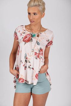 Show Me the Roses Pink Floral Top