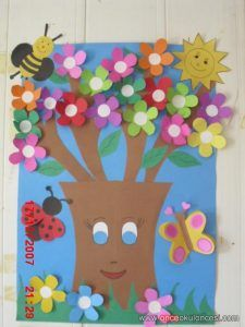 Spring bulletin board idea Snowdrop After the stormy night, a snowdrop took off its head from under the snow. Art Drawings For Kids, Art For Kids, Crafts For Kids, Arts And Crafts, Bulletin Board Tree, Summer Bulletin Boards, Board Decoration, Class Decoration, Preschool Crafts
