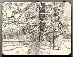 I love looking through the sketchbook pages of UK based artist Ian Sidaway. The details drawn with such fine lines are amazing. See much more of Sidaway's work on his sketching blog.
