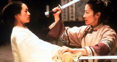 "Zhang Ziyi & Michelle Yeoh, ""Crouching Tiger, Hidden Dragon"", 2000 #swords"