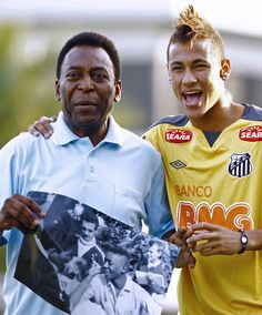 Pele & Neymar - Legend & Youngster