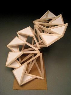 KyoungHwa Oh - Wood Sculpture - Modular Design Some sort of one shape slumbering Geometric Sculpture, Wood Sculpture, Sculpture Projects, Metal Sculptures, Abstract Sculpture, Bronze Sculpture, Module Design, 3d Design, Concept Architecture