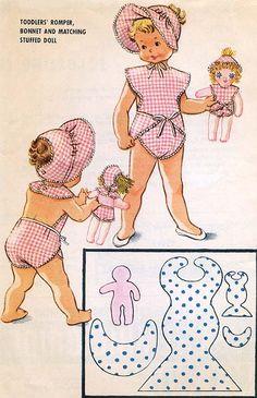 McCall 2322. 1959.  toddlers romper. CoPA