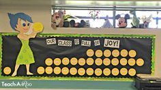 Fun Inside Out bulletin board for the beginning of the year or any Disney themed classroom! Disney Bulletin Boards, Preschool Bulletin Boards, Classroom Bulletin Boards, Classroom Setup, Classroom Displays, Future Classroom, Classroom Environment, Classroom Organization, Disney Classroom