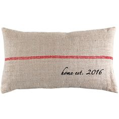 Home Established Year Grain Sack Pillow