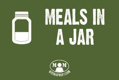 Increase your PREPared pantry with ready-made meals storable in jars or mylar bags. Ready made meals, food in jars, meals in jars, mason jar meals, just add water, MRE Check my other boards for more emergency preparedness and homesteading information. /// Get the Mom with a PREP newsletter here >> http://eepurl.com/Qjzmv <<