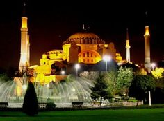The blue mosque in front of Hagia Sofia