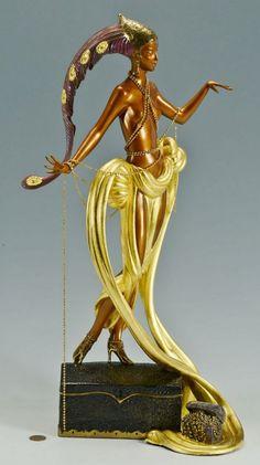 Erte Bronze Sculpture Pleasure Of The Courtesan