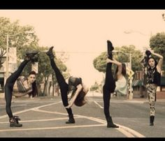 Umm excuse me dancers crossing here