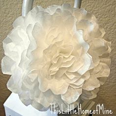 Coffee filter flowers. This was my first attempt. It was easy and looked great. Will definitely do again. Maybe try a wreath next time? :)