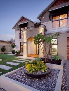 Modern Front Yard, Small Front Yard Landscaping, Front Yard Design, Modern Landscaping, Backyard Landscaping, Landscaping Ideas, Small Front Yards, Pool Backyard, Backyard Ideas