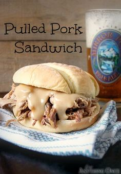 Crock Pot Pulled Pork Sandwich. Made it last night, it was awesome! new favorite
