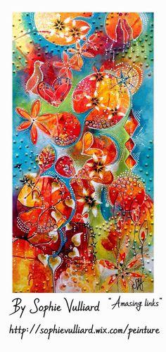 by sophie vulliard  intuitive painting art  http://sophievulliard.wix.com/peinture