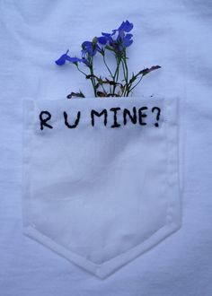 R U Mine Embroidered Pocket Tee