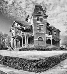 Historic Quapaw Quarter near downtown Little Rock has plenty of spooky old victorian homes. The Mount Holly Cemetary is right by it which is said to be haunted.
