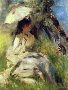 Parasol - Pierre Auguste Renoir - (1841-1919). Woman with a Parasol 1872