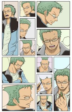 Looks like it's from some doujinshi. The art is lovely and even though Zoro isn't wearing his earrings, he does have glasses. I love men with glasses <3