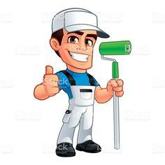 collection of vector cartoon house painter picture painter paint rh pinterest co uk Untouchables Baseball Bat Goodfellas Baseball Bat Scene
