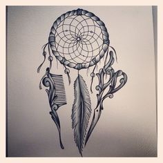 Hairstylist's Dreamcatcher Tattoo. @alexcoulterart (Instagram) I think ...