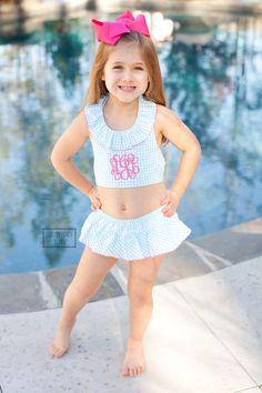 Baby Girl Swimwear, Little Girl Swimsuits, Kids Swimwear, Two Piece Swimsuits, Beautiful Little Girls, My Little Girl, Patriotic Swimwear, Beauty Of Boys, Crochet Toddler