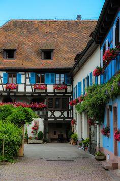 Eguisheim, Alsace region_ France