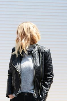 Be the baddest babe in your Girl Gang. // Ride Out Vegan Moto Leather Jacket