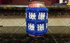 Crochet Tardis Pop/Beer Can Cozy by LilyLaneCrochet on Etsy