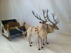 Miniature Dollhouse Reindeer set and by WoolytalesMiniatures