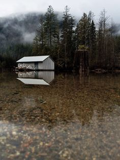 Cabin in nature~Awesome pic~ Beautiful Space, Beautiful World, Cabins And Cottages, Cabin Design, Cabins In The Woods, Back To Nature, Lake Life, Outdoor Camping, Nature Pictures