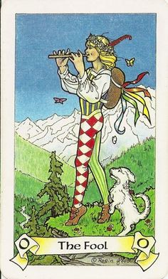 The Fool Card from the Robin Wood Tarot image