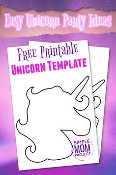 Here's a simple Diy Crafts For Girls, Fun Diy Crafts, Easy Paper Crafts, Craft Stick Crafts, Unicorn Painting, Unicorn Wall Art, Unicorn Head, Birthday Coloring Pages, Unicorn Coloring Pages
