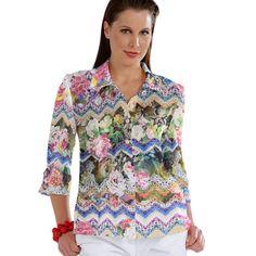 Stretch Satin Flower Knit 1 - Polyester - Élasthanne - mélange de couleurs