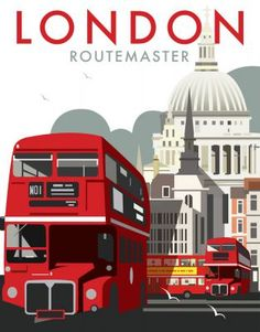 London Routemaster. By Illustrator Dave Thompson wholesale fine art print