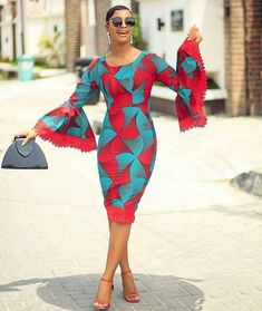 Simple 2019 Ankara Fitted Short Gowns Styles for Stylish Ladies.Simple 2019 Ankara Fitted Short Gowns Styles for Stylish Ladies Latest African Fashion Dresses, African Dresses For Women, African Print Dresses, African Print Fashion, Africa Fashion, African Attire, Ankara Fashion, African Prints, Nigerian Fashion