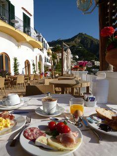 """Prima colazione, """"Miramare Sea Resort & Spa"""" (Hotel), Sant'Angelo, Isola Ischia,Italia (Maggio)"""