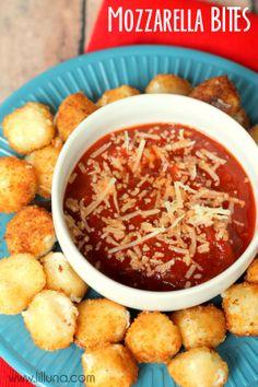 Easy Mozzarella Balls Recipe - these bite-size snacks are delicoius and easy!