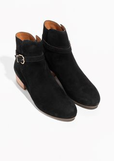 Other Stories image 2 of Suede Ankle Boots in Black e7c04d566d