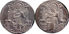 Republic of Venice - Grosso Pietro Gradenigo (1289-1310) (2 coins) - silver - Catawiki