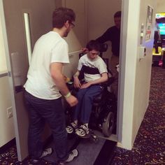 Jungle Rapids, a family-fun park in Wilmington, NC, recently installed a wheelchair lift to access their second-level party room! We just had to throw a party to celebrate. Local media, disability organizations, and some awesome kids came together to eat pizza, play laser tag, and use the lift!