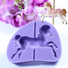 Carousel Horse Silicone Fondant Mold Cake Decorating Chocolate Baking Mould Tool
