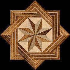 8 RAYS MQF II - Hardwood Floor Medallion