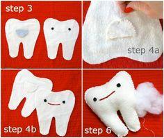 Make a tooth softie steps