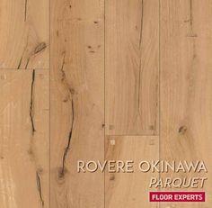 Cerchi un look Rustico per la tua abitazione? Rovere Okinawa è il Parquet giusto! Disponibile in plance da 190x1900 con uno spessore di 15mm, bisellate sui 4 lati e idone alla posa su superfici con riscaldamento a pavimento. Okinawa, Parquet Flooring, Hardwood Floors, Wood Floor Tiles, Wood Flooring, Wood Floor