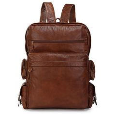 'Abne' Leather Backpack