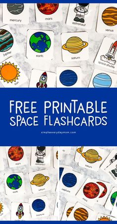 Teach The Solar System For Kids With This Fun Flashcard Game - Fun Activities For Kids - Teach The Solar System For Kids With This Fun Flashcard Game Free Printable Space Flashcards Planets Activities, Space Activities For Kids, Space Crafts For Kids, Space Preschool, Science For Kids, Preschool Activities, Planets Preschool, Space Kids, Health Activities