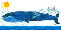 Eric Carle's Whale and Friends Canvas Art
