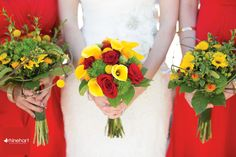 Yellow and Red wedding bouquet, persimmon and lemon colored wedding bouquet, red and yellow wedding color scheme, bright fun cheery wedding colors,York Pennsylvania Wedding Photographer-107