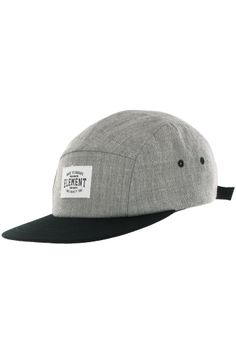 Element Palladium 5 Panel Cap (grey heather) buy at skatedeluxe Dad Caps 7a986cce5cd5