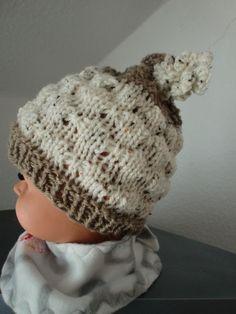 Mütze Babymütze Schäfchen  bis ca. 1/2 Jahr von Auenblume auf DaWanda.com