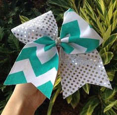 Chevron. Cheer Bow. Cheer bows.